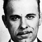Painting Of John Dillinger Mug Shot Poster