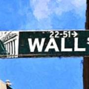 Painting Wall Street Poster
