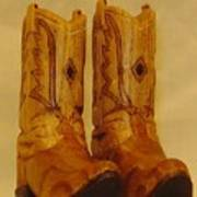 Pair Of Cowboy Boots Poster by Russell Ellingsworth
