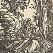 Pair Of Lovers In A Landscape Poster