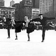 Pairs Skating In Central Park Poster