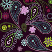 Paisley Abstract Design Poster