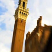Palazzo Pubblico Tower Siena Italy Poster