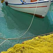 Paleohora Fishing Boat Poster