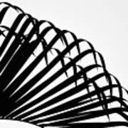 Palm Frond Black And White Poster
