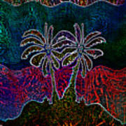 Palm Tree Abstraction Poster