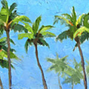 Palm Tree Plein Air Painting Poster