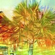 Palm Tree Portrait Poster