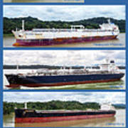 Panama Canal Cargo Ships Poster