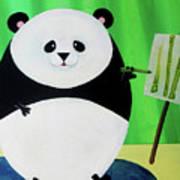 Panda Drawing Bamboo Poster by Lael Borduin