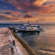 Pandanon Island Sunset Poster