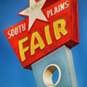 Panhandle South Plains Fair Sign Poster