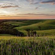 Pano - Flint Hills Sunset   Poster