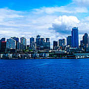 Pano Of Downtown Seatle Poster