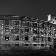 Pano Of The Fort William Starch Company At Sunset Poster