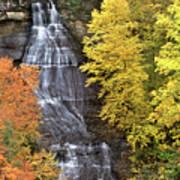 Panorama Fall Color Chapel Falls Upper Penninsula Mi Poster