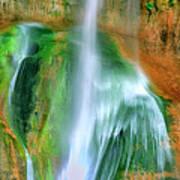 Panorama Lower Calf Creek Falls Escalante Nm Utah Poster