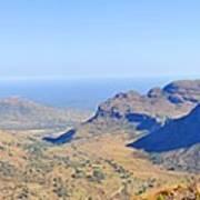 Panorama Mountain View Poster