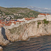 Panorama Of Dubrovnik, Croatia, In The Afternoon Poster