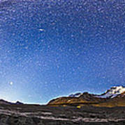 Panorama Of The Columbia Icefields Poster