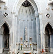 Panorama Of The Main Altar Of St. John The Evangalist Roman Catholic Church Schenectady Poster