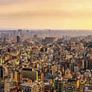Panoramic Barcelona Poster
