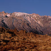 Panoramic Moon Set Alabama Hills Eastern Sierras California Poster