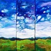 Panoramic Stormy Skies Poster