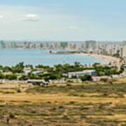 Panoramic View At The Salinas Beaches In Ecuador Poster