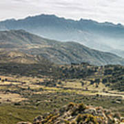 Panoramic View Of Monte Grosso And The Mountains Of Corsica Poster