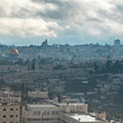 Panoramic View Of Old Jerusalem City Poster