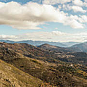 Panoramic View Of Olmi Cappella Valley With In Corsica Poster
