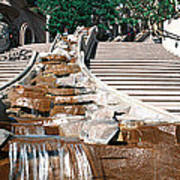 Panoramic View Of Stairs And Waterfall Poster