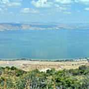Panoramic View Of The Sea Of Galilee Poster