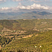 Panoramic View Of Umbrian Hills In Italy Taken From Preggio Poster