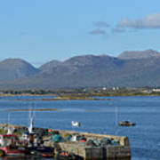Panoramic View Roundstone Harbour Poster