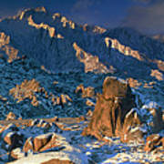 Panoramic Winter In The Alabama Hills Eastern Sierras California Poster