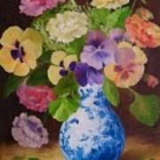 Pansies And Ranunculus Poster