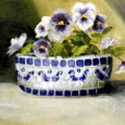 Pansies Poster by Lenore Gaudet