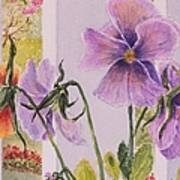 Pansies On My Porch Poster