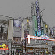 Pantages Theater Hollywood Poster