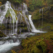 Panther Creek Falls In Autumn Poster