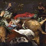 Pantry Scene With Servant By Frans Snyders Poster