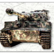 Panzer Tiger I Front Poster