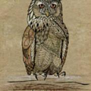 Paper Bag Owl Poster
