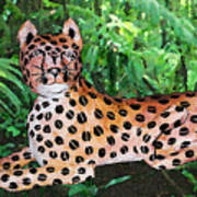 Paper Mache Leopard Poster