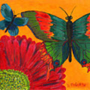 Papillon Jaune Poster