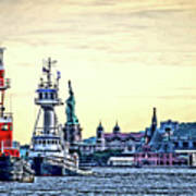 Parade Of Tugs, Hudson River, New York City Poster