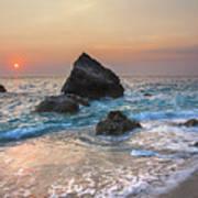 Paradise Beach Sunset Poster