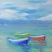 Paradise Island Boats Poster